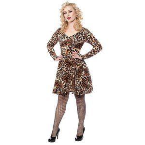 Sourpuss On the Prowl Dress in Leopard Print